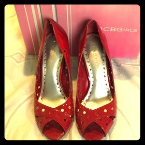 BCBG Girls Vintage red patent shoes
